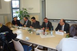 Pressekonferenz Gerstungen thermovolt AG Pressesprecher Gerd Rapior