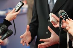 Journalists making media interview Internet Gerd Rapior