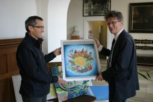 Begutachtung Ingo Hafke und Gerd Salzwedel Lübeck malt Media Concept Gerd Rapior
