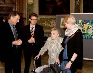 Lilly Lumpe wird von Gerd Rapior und Ingo Hafke begrüßt