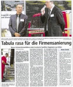 Der Schutzschirmverfahren Jörg Franzke Wolfgang Ringleb Hagemann Logistik Media concept Pressesprecher NDR Organisator der Präsentationsveranstaltung