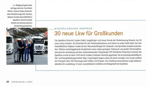 Gerd Rapior MEDIA CONCEPT Gustke Logistik Fachzeitschrift Daimler Benz
