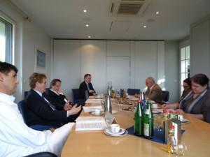 Presserunde kaufmännischer Vorstand Ottomelchert referiert