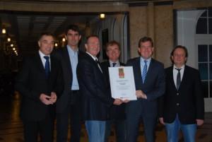Gratulationskur bei Oberbürgermeister Ulf Kämpfer Kiel