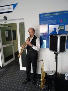 Saxophonist Raiuner Schmidt Kaleidoskop