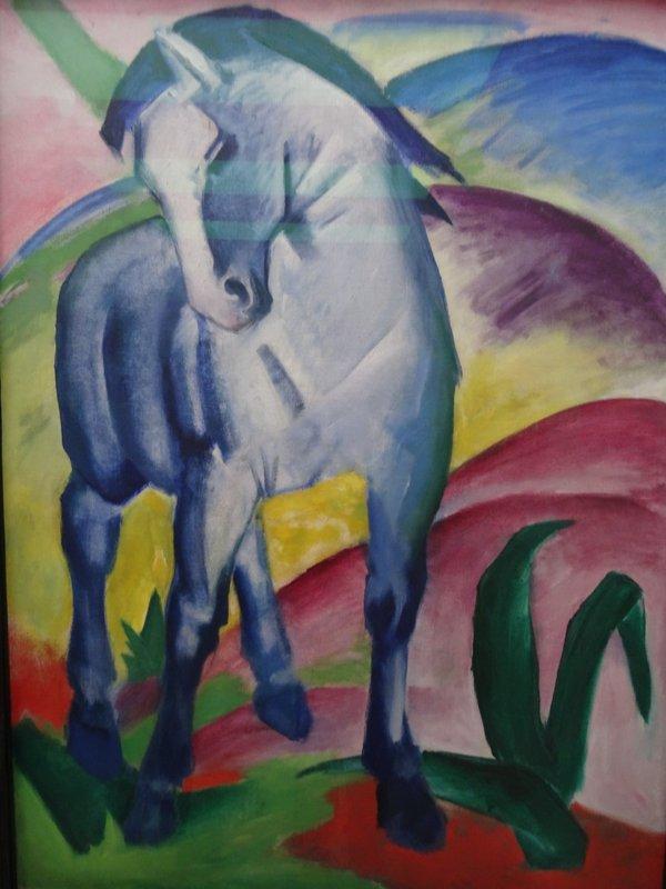 Das blaue Pferd von Franz Marc Foto: Gerd Rapior