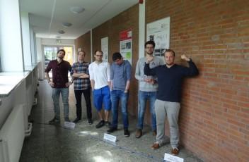 Gerd Rapior mit Studenten der FH Lübeck